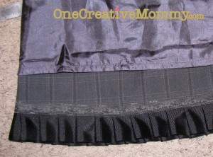 Image of finished inside-out-skirt