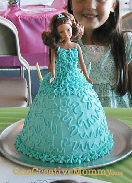 Frosted Princess Cake