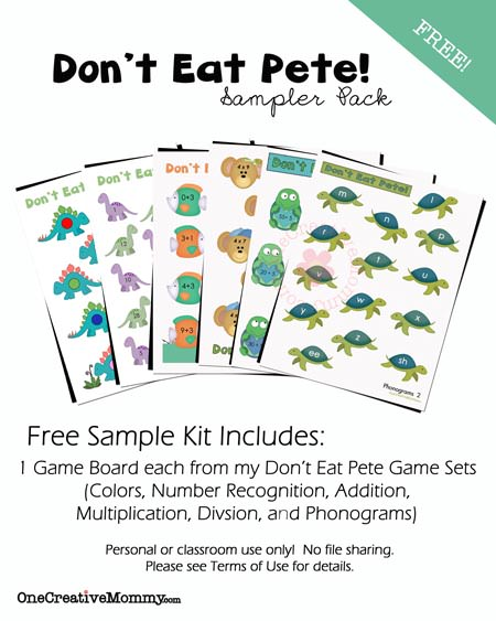 Dont Eat Pete Free Sample Pack