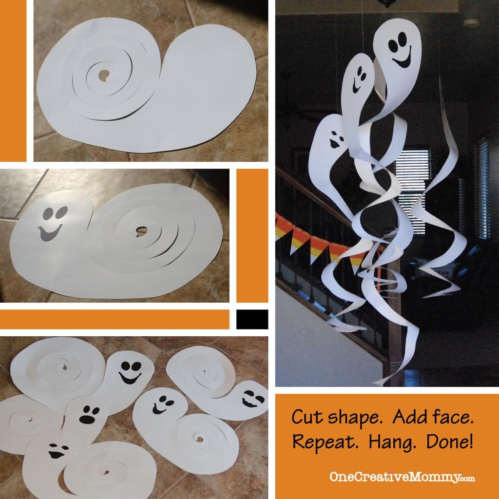 DIY Spinning Ghosts