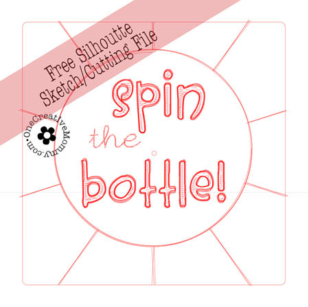 Spin the Nail Polish Bottle Party Game for Little Girls {OneCreativeMommy.com} Includes free Silouette and pdf files for spinner #partygames #unslumberparty