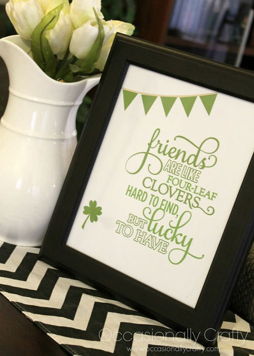 St. Patrick's Day Best Friends Printables from Occasionally Crafty