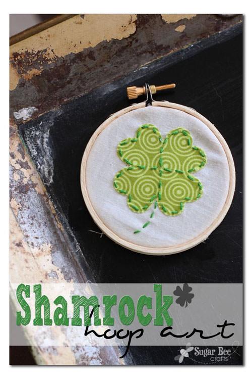 Shamrock Hoop Art from Sugar Bee Crafts