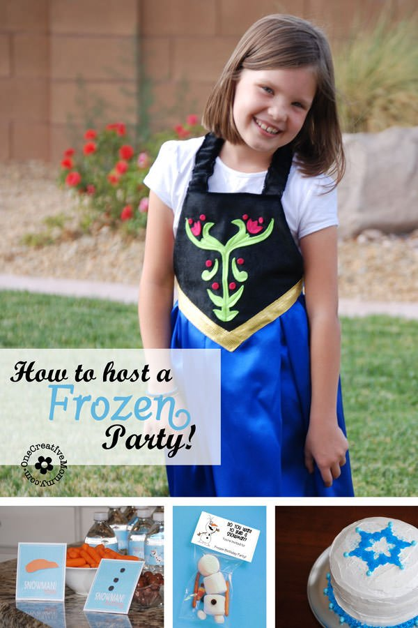 Awesome Ideas to Host a Frozen Party! Games, Invitations, Food, Printables and Decor! {OneCreativeMommy.com}