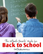 The Ultimate Parent's Guide for Back to School | Great tips to start the school year off right! {OneCreativeMommy.com} Organization, Crafts, Printables and more!