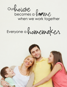 We are all Homemakers |No matter your situation in life, you can make your home a place of peace {OneCreativeMommy.com} Free printables for Family Night